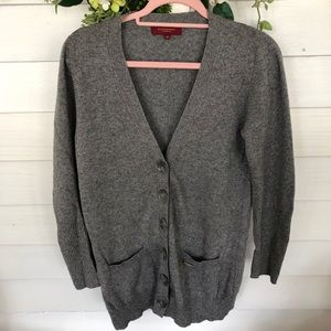 Gray Burberry button up cardigan